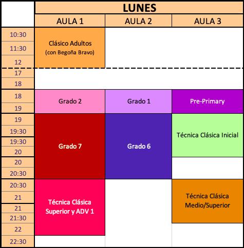 Clases Lunes Estudio de Danza Alicia Broseta